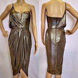 Metallic drape dress